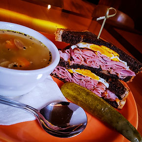 House Made Soup and Sandwich