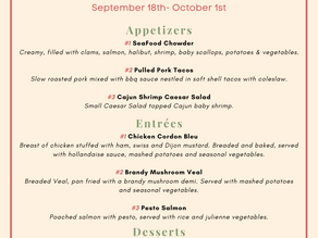 Three course fare is back!