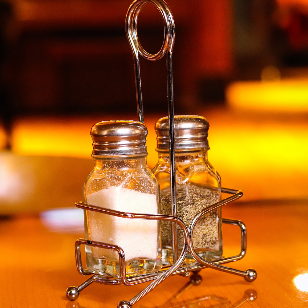Condiments/ Salt & Pepper Shakers will only be available by request.