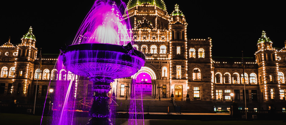 Vancouver and Victoria lit up in purple for Osteoporosis Month