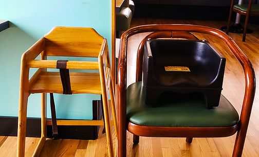 highchairs and booster seats are available for the little ones who visit the JBI Restaurant,