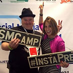 Roy Whitney with Sue B Zimmerman at Social Media Camp in Victoria, B.C