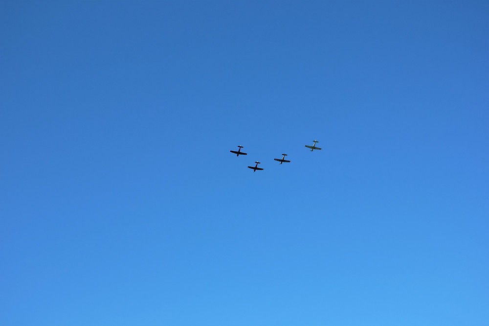 A shot I took on Remembrance Day of a fly over