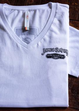 White v neck ladies t-shirt