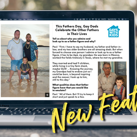 Daddy Paul's @GayswithKids feature: Fathers Day Edition