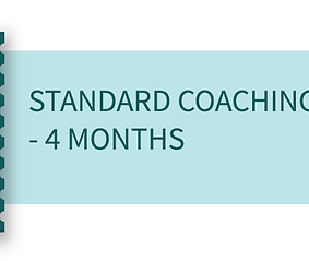 Standard coaching package - 4 months