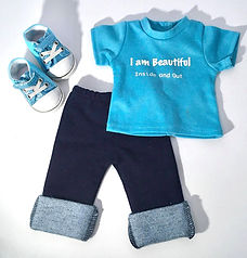 3 PIECE JEAN SET WITH SNEAKERS
