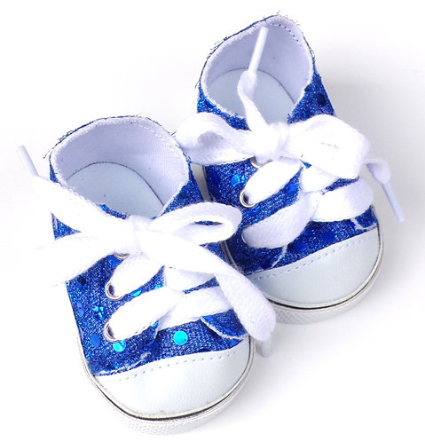 Royal Blue Sequin Sneakers