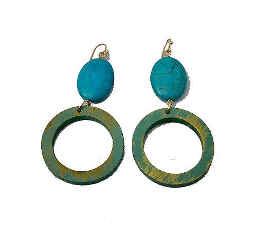 Turquoise Earring Set