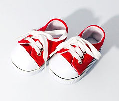 Red Doll sneakers for 18 Inch doll