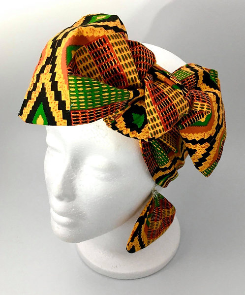 Afrocentric Head Wrap with Earrings