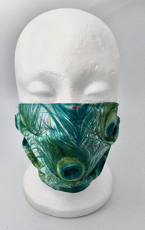 Peacock Printed Mask