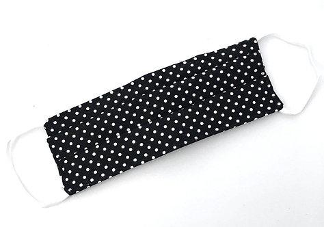 Black and White Polka Dot Face Mask