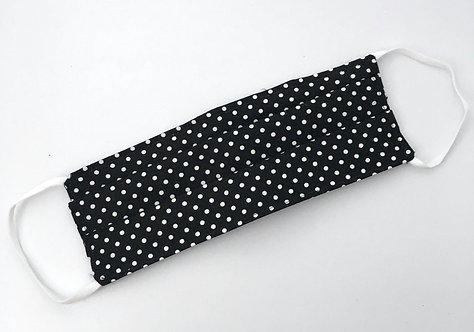 Black and White Polka Dot Mask