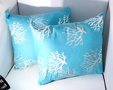 Turquise Blue Decorative Pillow Set