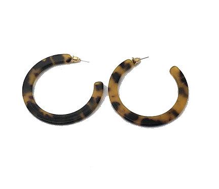 Leopard Print Hoop Earrings