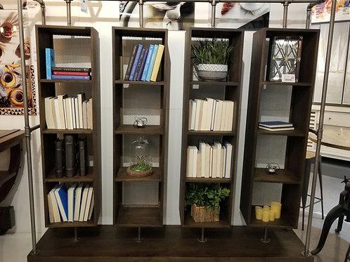 Rotating Wood & Iron Bookcase