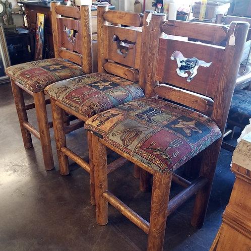 Rustic Wood Bar Stools (Priced Ea)