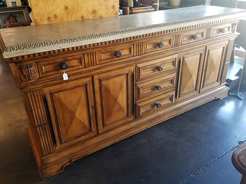 Wood Buffet with Granite Top