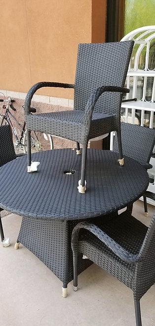 New 5 PC Rattan Patio Set