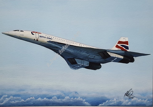 Concorde framed limited edition print (large)