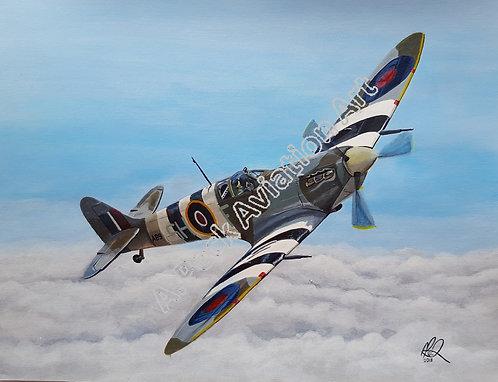 Spitfire Mk.Vb AB910 unframed limited edition print