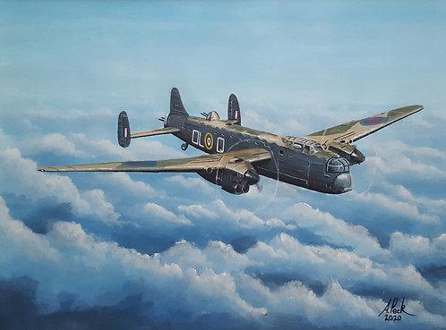 Avro Manchester Mk.I L7427 Framed Original Painting