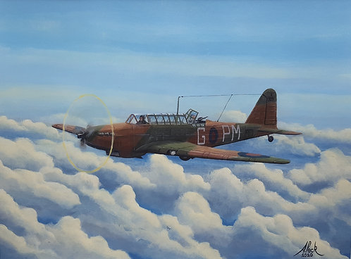 Fairey Battle Mk.I K9271 Framed Original Painting
