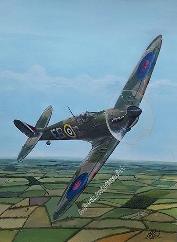 Spitfire Mk.II P7350 framed limited edition print (large)