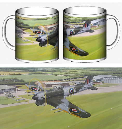 Typhoon Over Duxford ceramic mug