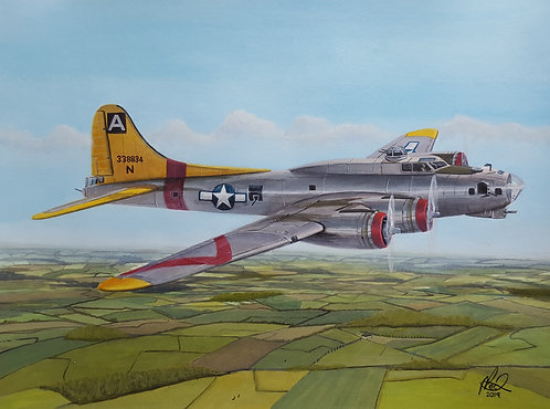94th Bomb Group Boeing B17G 43-38834 unframed limited edition print