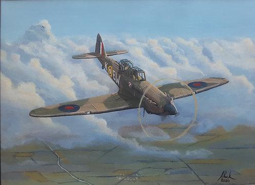 Boulton Paul Defiant Mk.I N3437 Framed Original Painting