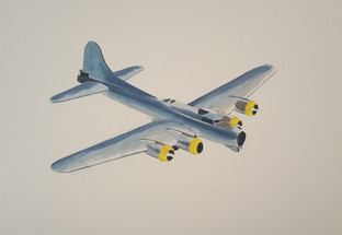 Basic colours and shapes of the B17 so far. This represents around 1 hours work.