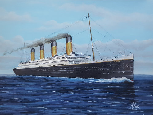RMS Titanic framed limited edition print. 18x14 inch.
