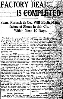 Sears & Robuck Buy Factory No. 3 Newbury