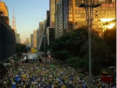 Foto aérea e filmagem aérea com drone na Paulista à favor do Impeachment