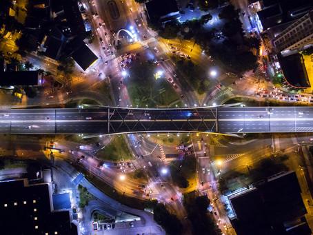 Fotografia aérea noturna