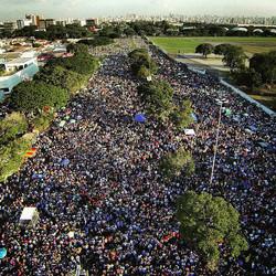 Marcha para Jesus com Avant Drones foto aerea
