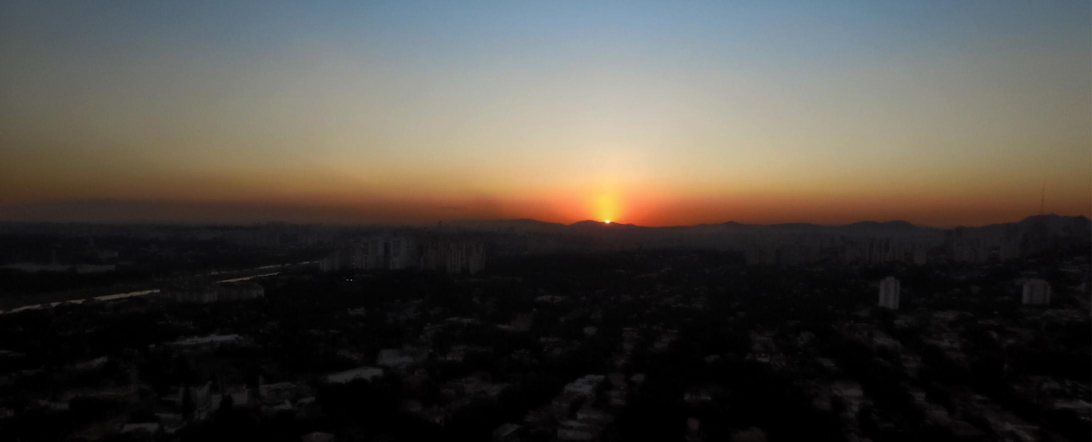 Pôr do sol em São Paulo