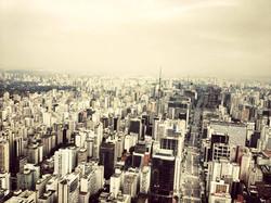 Imagem aérea da Avenida Paulista