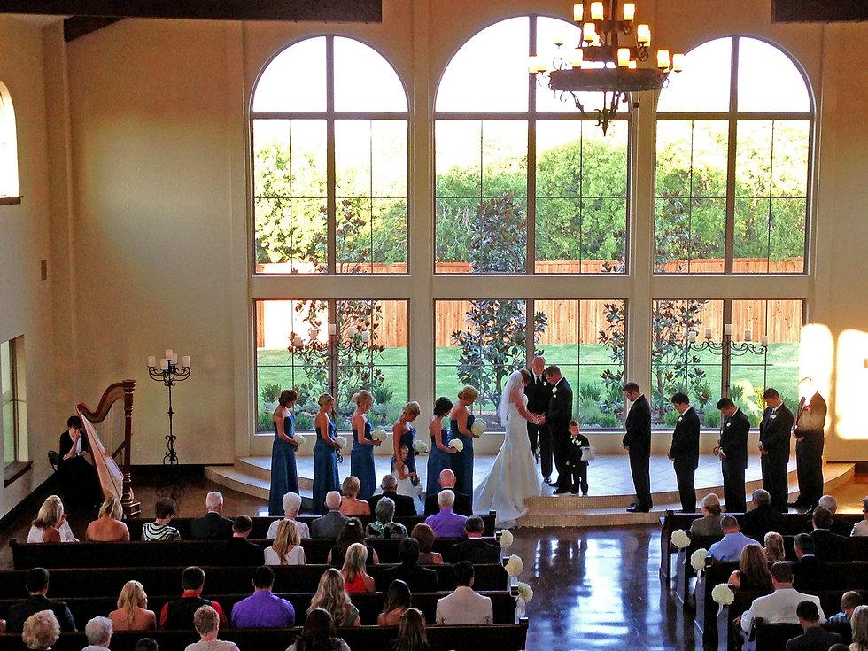 Indoor Wedding with a Harpist.jpeg