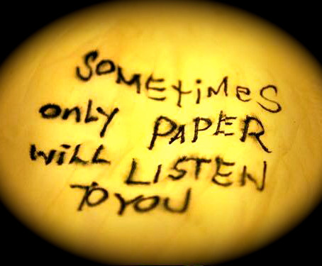 Sometimes Only Paper Will Listen