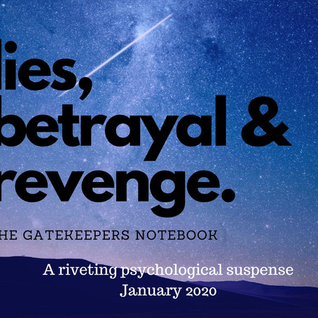 AN INSIDE PEEK INTO THE GATEKEEPER'S NOTEBOOK––Sahar Abdulaziz's New Psychological Suspense!