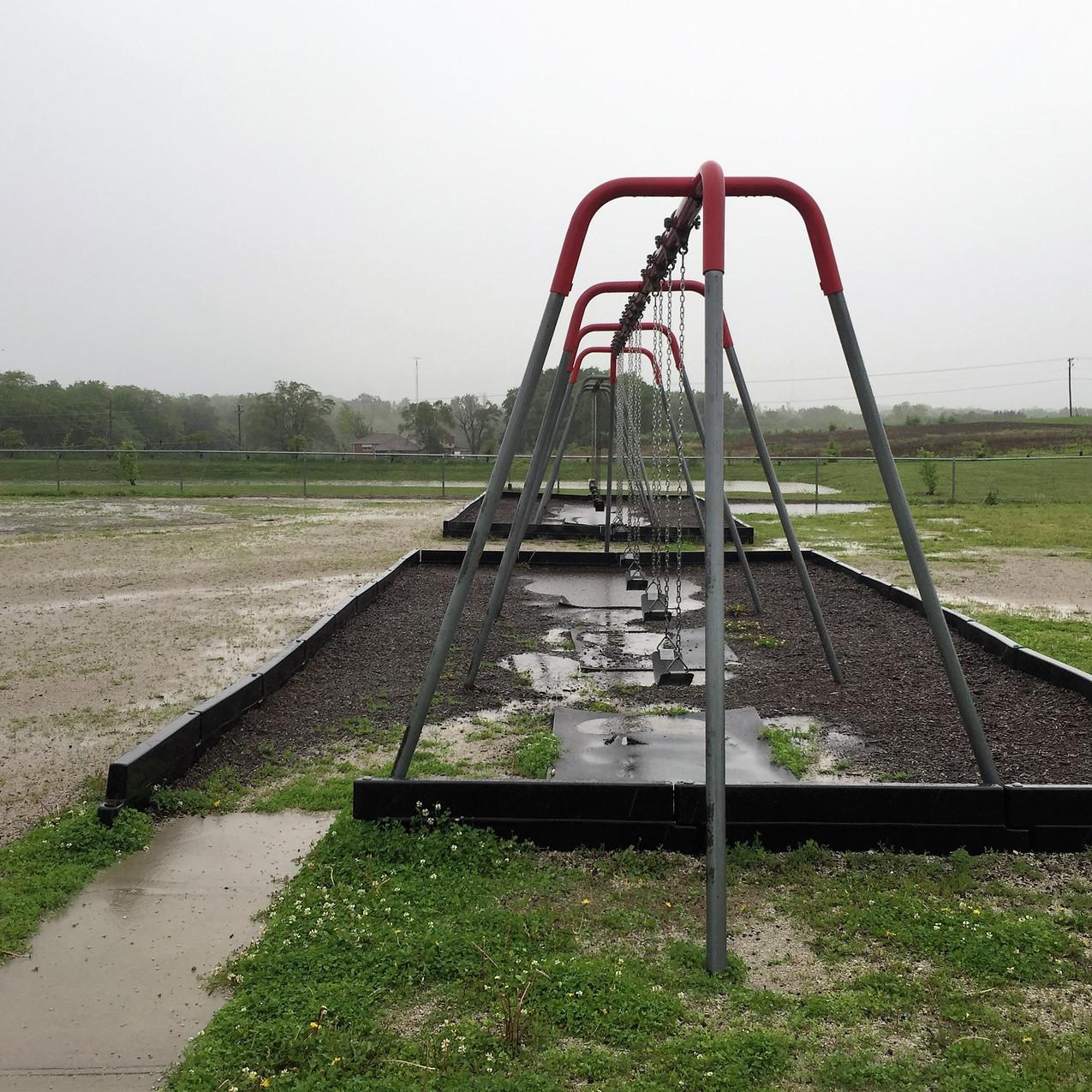 Swing area before resurfacing.