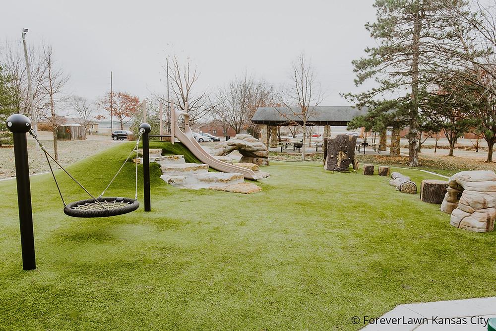 Frisco Lake Park, Olathe, KS - Playground Grass Ultra