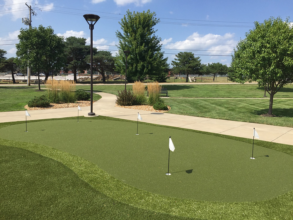 Senior Living Center with putting green