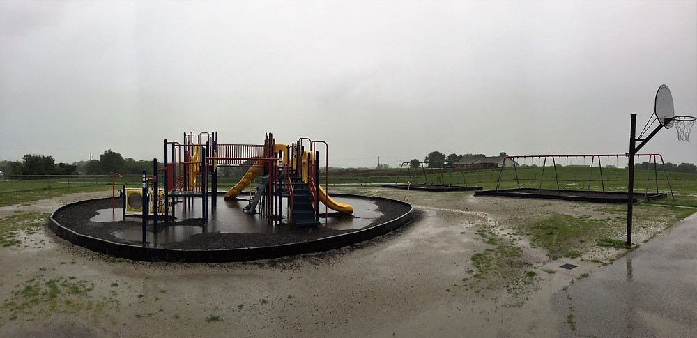 Sunrise Elementary Playground before resurfacing