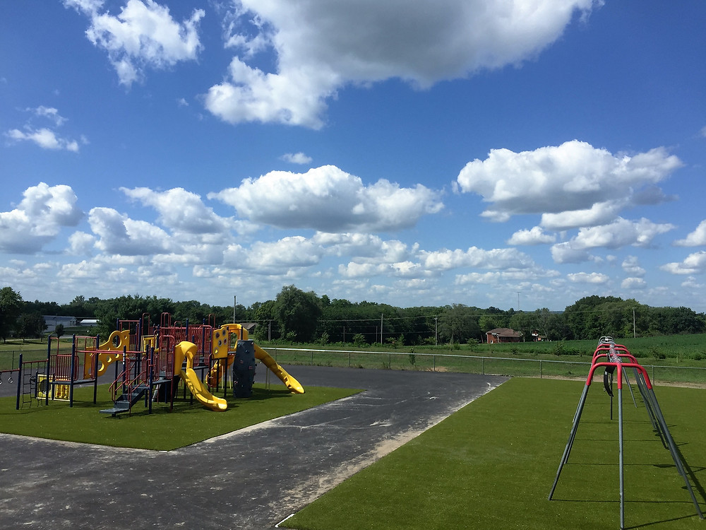 Sunrise Elementary Playground after resurfacing