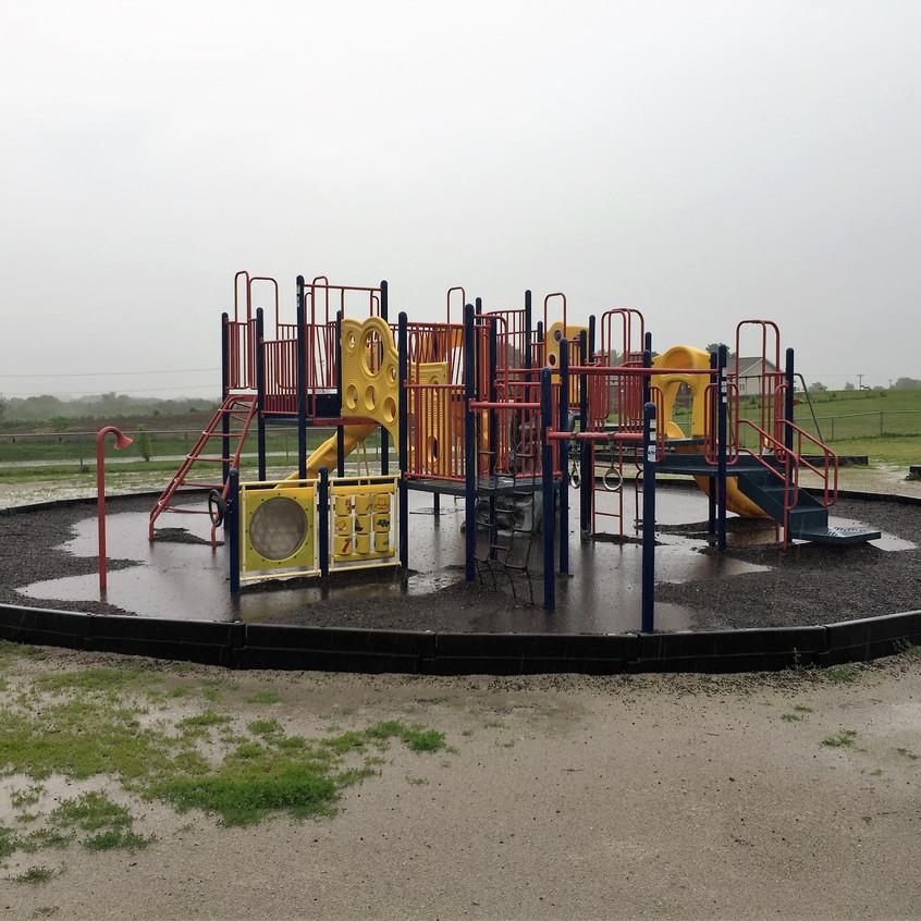 Playground before resurfacing.