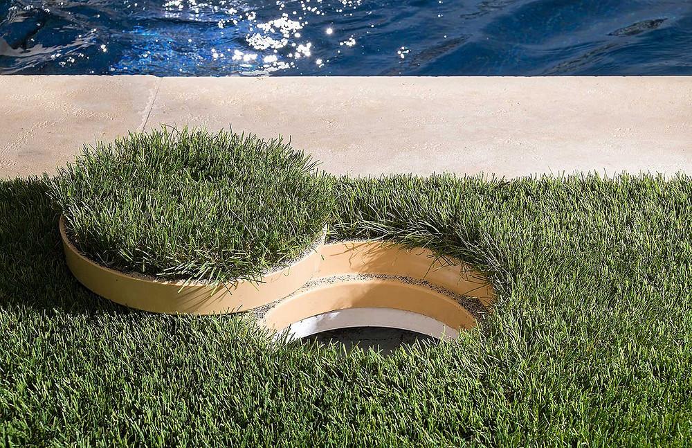 Custom shaped artificial turf